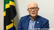 Dr Abdallah Saleh Possi, Tanzania ambassador to Germany. Date : Berlin, 27.08.2021 Author : Saleh Mwanamilongo / DW Kiswahili