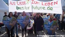 Klimademonstration Kempten (© Regionalgruppe Kempten) Quelle: https://omasforfuture.de/presse#bilder