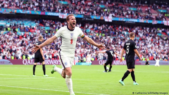 Englands Harry Kane feiert EM 2020 gegen Deutschland