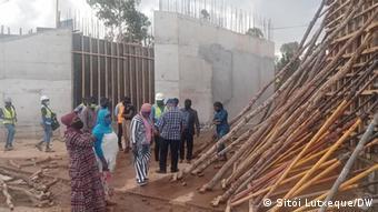 Mosambik Baustelle Autobrücke Nampula