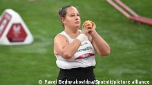 6639599 01.09.2021 Russian Paralympic Committee's Galina Lipatnikova warms up ahead of the women's shot put F36 final during the athletics event at the Tokyo 2020 Paralympic Games at Olympic Stadium, in Tokyo, Japan. Pavel Bednyakov / Sputnik