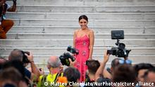 31/08/2021 Serena Rossi attends the Patroness photocall during the 78th Venice International Film Festival on August 31, 2021 in Venice, Italy. (Photo by Matteo Chinellato/NurPhoto)