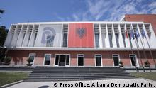 Albania Democratic Party Headquarters in Tirana. Description: Albania Democratic Party Headquarters in Tirana. Author: Press Office, Albania Democratic Party.