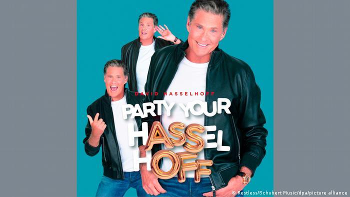 Cover des Albums 'Party Your Hasselhoff' mit David Hasselhoff in drei Posen.
