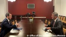 The Prime Minister of Kosovo Albin Kurti in a meeting with the EU Special Representative for the Kosovo-Serbia dialogue Miroslav Lajqak