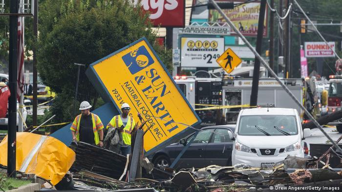 Destrucción provocada por Ida en Maryland.