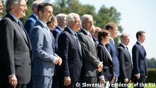 Kranj, Slovenia, Sept 2, 2021+++group photo, EU defense ministers meet in Slovenia