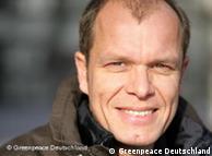 Jörg Feddern, experto de Greenpeace en petróleo.