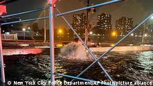This photo provided by the New York City Police Department shows flooding on New York York's Upper East Side, Wednesday, Sept. 1, 2021. The remnants of Hurricane Ida inundated large swaths of the northeastern U.S. with historic and unanticipated fury Wednesday night, killing several people in flooding in New York, New Jersey and Pennsylvania. (New York City Police Department. via AP)