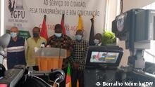 Pressekonferenz der angolanischen Opposition zum neuen Wahlgesetz Ort: Luanda/Angola Datum: 02.09.21 Autor: Borralho Ndomba