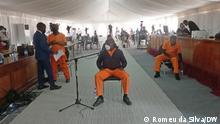 Der Angeklagte Bruno Langa während des Prozesses zu versteckten Schulden in Maputo, Mosambik.