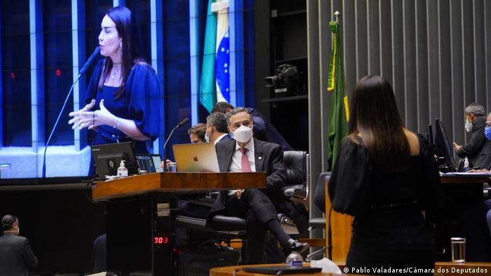 A deputada Margarete Coelho (PP-PI) fala na Câmara