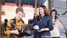 Sep 2021***Die Direktorin des Festivals Eugenia Lopata bekam von der deutschen Botschafterin in der Ukraine Anka Feldhusen den Verdienstorden der Bundesrepublik Deutschland.