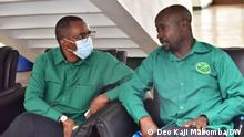 MP from Kawe constituancy Josephat Gwajima (right ) and MP from Ukonga consituancy, Jerry Silaa at the Ethics comittee of the CCM party in Dodoma, Tanzania.