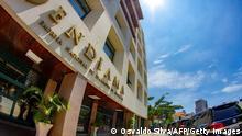 A picture taken on February 20, 2020 shows the headquarters of the Angola Diamond Board, ENDIAMA (Empresa Nacional de Diamantes de Angola) in Luanda. (Photo by Osvaldo Silva / AFP) (Photo by OSVALDO SILVA/AFP via Getty Images)