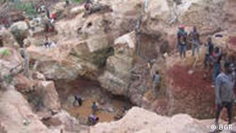 A coltan mine in Mozambique