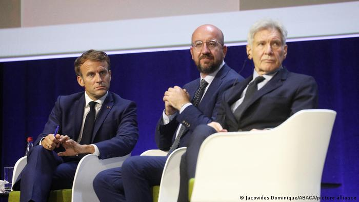 Macron and Michel at IUCN Congress in Marseille