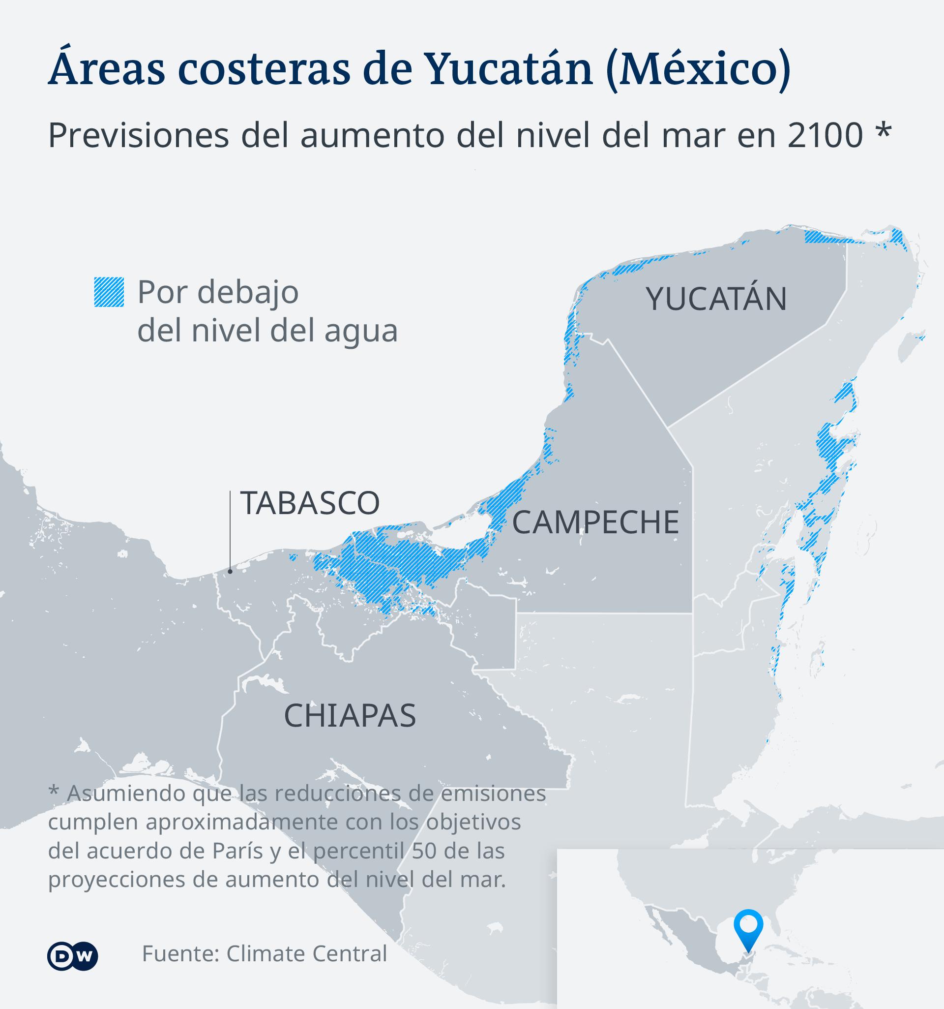Infografik - Überschwemmungsgebiete Yucatan - ES
