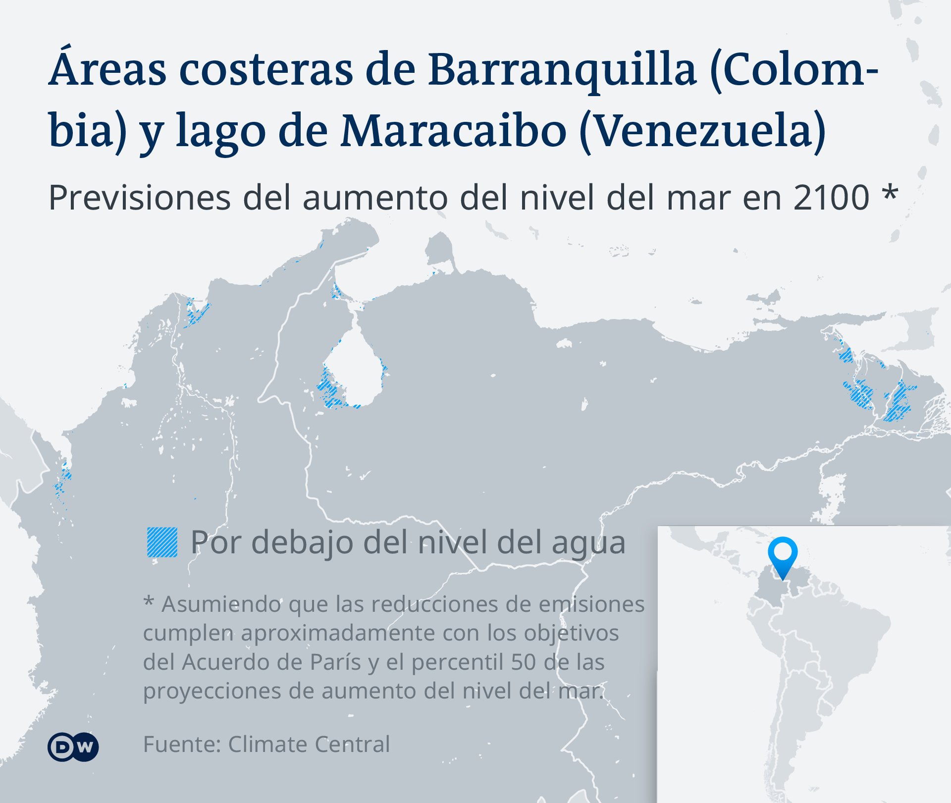 Infografik - Überschwemmungsgebiete Kolumbien-Venezuela - ES