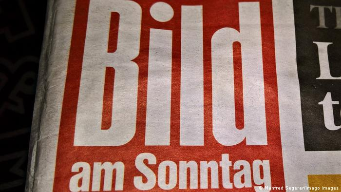 The mast head for Bild am Sonntag newspaper
