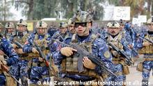 (160109) -- KIRKUK, Jan. 9, 2016 () -- Members of Iraqi police forces attend a ceremony celebrating the 94th anniversary of the founding of Iraqi police forces at the Kirkuk police directorate in Kirkuk, northern Iraq, on Jan. 9, 2016. (Xinhua/Ako Zangna)