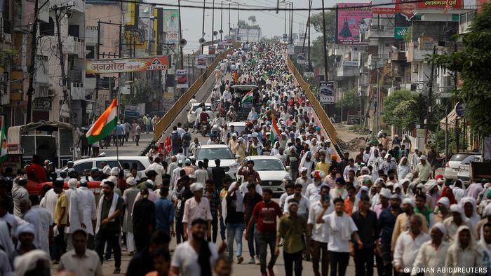 Protesting farmers in Muzaffarnagar, India
