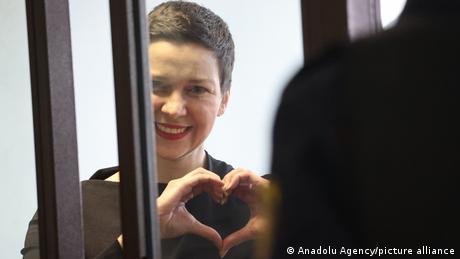 Jailed Belarussion opposition leader, Maria Kolesnikova