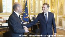 Bundesfinanzminister Olaf Scholz, SPD, trifft in Paris den franzoesichen Praesidenten Emmanuel Macron im Elysee - Palast. 06.09.2021 Copyright: Thomas Imo/ photothek.net