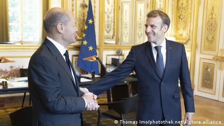 Olaf Scholz și Emmanuel Macron la Paris