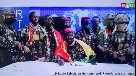 <div>Guinea's future uncertain as coup leaders tighten grip on power</div>