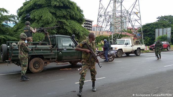 Guinée: Militaires à Conakry
