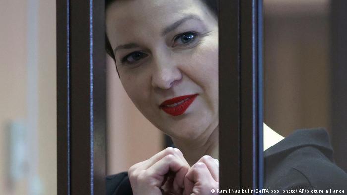 Марія Колесникова у суді в Мінську під час оголошення вироку