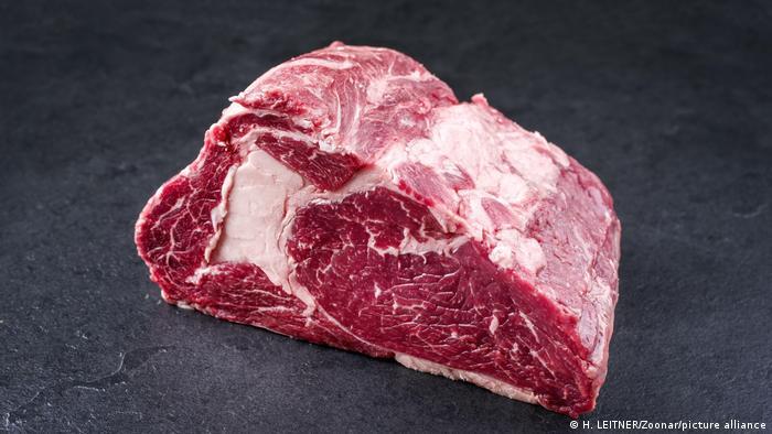 Los investigadores creen que demostrar que un filete de wagyu puede imprimirse con precisión en 3D podría ser un gran paso hacia un futuro sostenible .En la imagen, un bistec de carne de wagyu real.