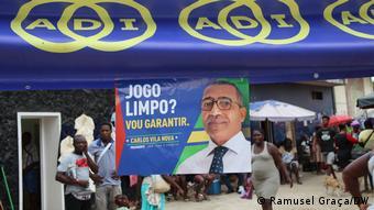 São Tomé und Príncipe | Wahlplakat von Carlos Vila Nova