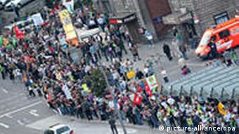 Prosvjednici u Stuttgartu