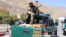 PANJSHIR, AFGHANISTAN - SEPTEMBER 6: Taliban members patrol after they took over Panjshir Valley, the only province the group had not seized during its sweep last month in Afghanistan on September 6, 2021. Bilal Guler / Anadolu Agency
