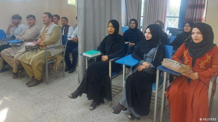 کلاسی در دانشگاه کابل - روز ششم سپتامبر ۲۰۲۱