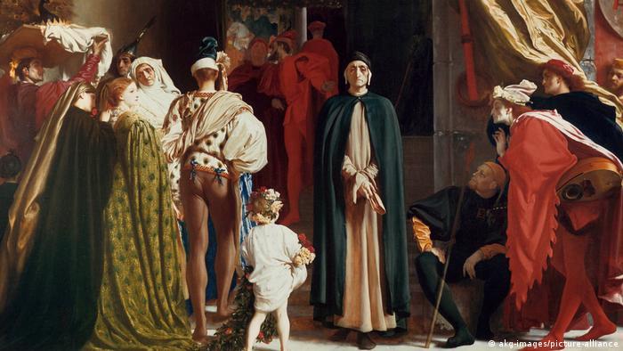 Картина Фредерика Лейтона Данте в изгнании
