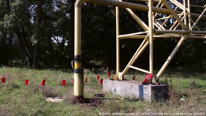 Russland | Handout Videostill des FSB zu Beschädigungen an Gas Pipeline