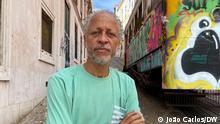 Journalist Aly Silva, der vermutlich aus politischen Gründen verprügelt wurde. 06.09.2021 Lissabon, Portugal