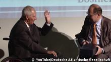 """Symposium der Deutschen Atlantischen Gesellschaft yum Thema """"Die Euroatlantische Perspektive Bosnien Herzegowina"""" Bundestagspräsident Wolfgang Schäuble und ehemaliger Kollege Christian Schmidt"""