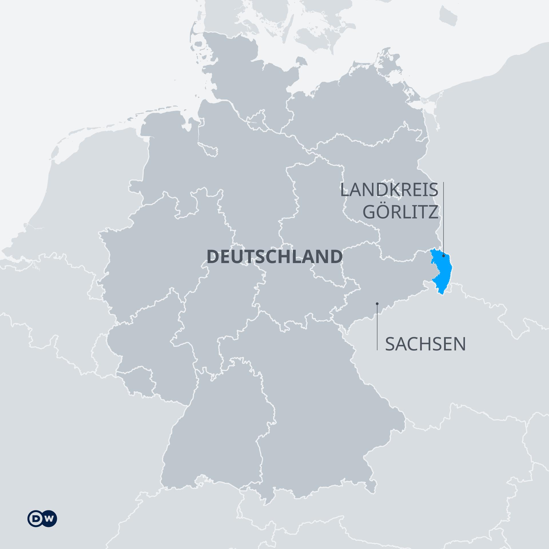 Infografik Karte Landkreis Görlitz DE