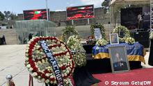 Funeral of Ethiopian prominant Singer Alemayehu Eshete . Titel:- Funeral of Ethiopian prominant Singer Alemayehu Eshete . Autour/Copyright:- Seyoum Getu (DW correspondent in Addis Abeba ) 07.09.21) Schlagworte: Äthiopien, Alemayehu