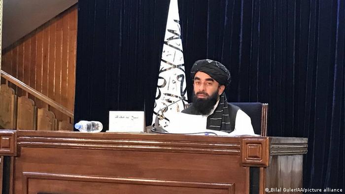 Afghanistan Kabul, | Pressekonferenz der Taliban: Mullah Mohammad Hasan Akhundzada soll Taliban leiten