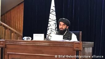Afghanistan Kabul | PK der Taliban: Sprecher Zabihullah Mujahi: Mullah Mohammad Hasan Akhundzada soll Taliban leiten