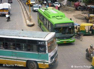 Two buses in New Delhi