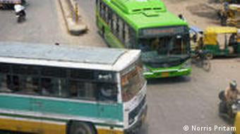 Collisions between buses, cars or rickshaws are not uncommon