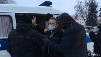 Вячеслав Барок во време задержания в декабре 2020 года. Фото из личного архива