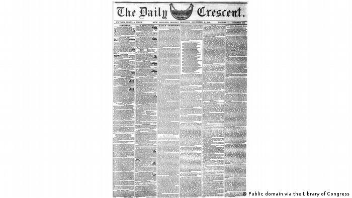 The Daily Crescent Whitman-Brief vom 6. November 1848
