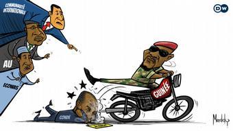 Kariaktur zu Militärputsch in Guinea